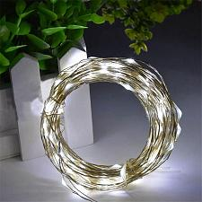 Buy :11029U - 100 LED Fairy Lights Silver Wire USB Powered Cool White