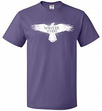 Buy Winter Is Here Unisex T-Shirt Pop Culture Graphic Tee (S/Purple) Humor Funny Nerdy Ge