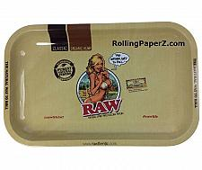 Buy New RAW 7X11 Organic Hemp Classic Rolling Papers GIRL Metal Tray The Natural Way