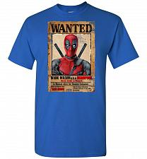 Buy Deadpool Wanted Poster Unisex T-Shirt Pop Culture Graphic Tee (4XL/Royal) Humor Funny