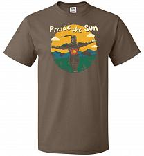Buy Praise The Sun Unisex T-Shirt Pop Culture Graphic Tee (S/Chocolate) Humor Funny Nerdy