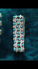 Buy turquoise colored stretch bracelet