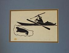 Buy Vintage Inuit Eskimo Stone-print, HENRY NAPUTOK, Eskimo and Walrus, 12x16 w mat