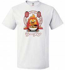 Buy Fire Demon Ramen Unisex T-Shirts Pop Culture Graphic Tee (4XL/White) Humor Funny Nerd