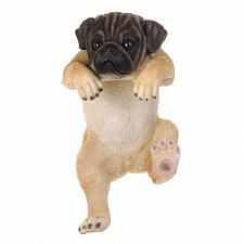 Buy *17283U - Climbing Tan Pug Puppy Daisy Fence Edge Sitter Figurine