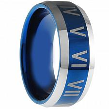 Buy coi Jewelry Tungsten Carbide Ring With Roman Numerals