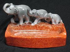 Buy Vintage Porcelain Elephants Figural Ashtray Japan Maruyama Ryuhei Snuffer