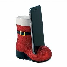 Buy *18294U - Sparkling Red Santa Boot Cell Phone Holder