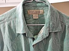 Buy Island Republic 100% Silk Men's Hawaiian Shirt Size L Green with Leaves EUC