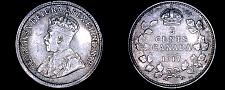 Buy 1917 Canada 5 Cent World Silver Coin - Canada - George V - Lot#9921
