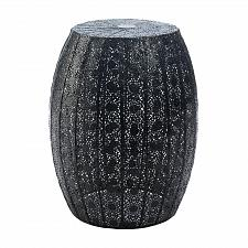 Buy *18467U - Black Decorative Moroccan Lace Pattern Table Foot Stool