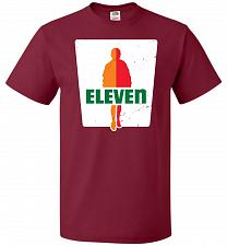 Buy 0-Eleven Unisex T-Shirt Pop Culture Graphic Tee (6XL/Cardinal) Humor Funny Nerdy Geek