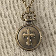 Buy :11016U - Bronze Cross Mini Watch Chain Necklace