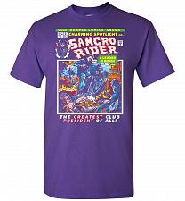 Buy Born Leader Samcro Rider Unisex T-Shirt Pop Culture Graphic Tee (L/Purple) Humor Funn