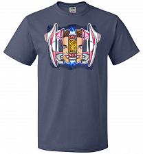 Buy Pink Ranger Unisex T-Shirt Pop Culture Graphic Tee (L/Denim) Humor Funny Nerdy Geeky