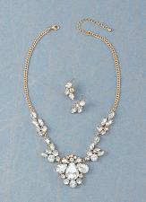 Buy *16228U - Elegant Crystalline Sparkle Earring & Necklace Jewelry Set