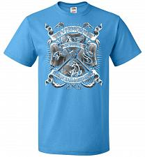 Buy Fantastic Crest Unisex T-Shirt Pop Culture Graphic Tee (L/Pacific Blue) Humor Funny N