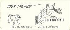 Buy Vintage Ink Blotter Political Humor Hallworth Bulldog Man Jumping Fence NO BULL