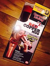 Buy Red Copper Mug 16oz. Insulated Ceramic Lined Coffee Travel Mug As Seen On TV