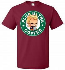 Buy Plus Ultra Coffee Unisex T-Shirt Pop Culture Graphic Tee (3XL/Cardinal) Humor Funny N