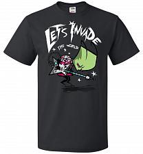 Buy Zim Pilgrim Unisex T-Shirt Pop Culture Graphic Tee (L/Black) Humor Funny Nerdy Geeky
