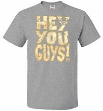 Buy Goonies Hey You Guys! Adult Unisex T-Shirt Pop Culture Graphic Tee (L/Athletic Heathe