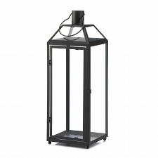 "Buy *17438U - Midtown Large 21 1/2"" Black Iron Pillar Candle Lantern"