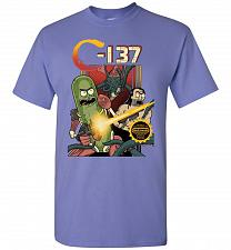 Buy C-137 Schwifty Squad Unisex T-Shirt Pop Culture Graphic Tee (S/Violet) Humor Funny Ne