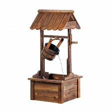 Buy *18434U - Fir Wood Wishing Well Water Fountain Yard Art