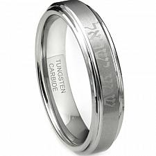 Buy coi Jewelry Tungsten Carbide Ring With Hebrew/Custom Engraving
