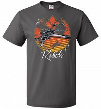 Buy Retro Rebels Unisex T-Shirt Pop Culture Graphic Tee (M/Charcoal Grey) Humor Funny Ner