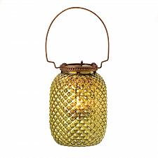 Buy 15201U - Green Small Diamond Glass Tea Light Candle Lantern