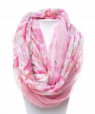 Buy Women Infinity Scarfs Crinkle Floral Multi Color 64X30 All Occasion MARYSOL