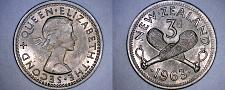 Buy 1963 New Zealand 3 Pence World Coin