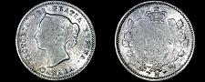 Buy 1880-H Canada 5 Cent World Silver Coin - Canada - Victoria - Lot#9739