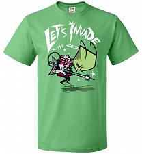 Buy Zim Pilgrim Unisex T-Shirt Pop Culture Graphic Tee (3XL/Kelly) Humor Funny Nerdy Geek