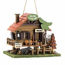 Buy 15281U - Woodland Cabin Wood Birdhouse Yard Art