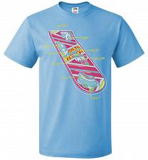 Buy Anatomy Of A Hover Board Unisex T-Shirt Pop Culture Graphic Tee (XL/Aquatic Blue) Hum