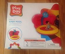 Buy Play Day Inflatable Baby Pool Monkey Sunshade Summer Play Fun Ages 1-3 NEW