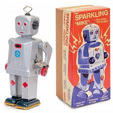 Buy Funkelnd Mike Roboter Auziehbar Walking Blech Aufziehen Spielzeug Sammler Von