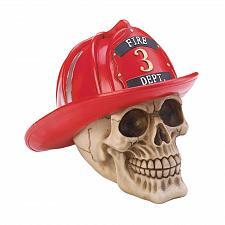 Buy *17862U - Firefighter Hat Skull Skeleton Head Figure