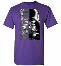 Buy Vader Unisex T-Shirt Pop Culture Graphic Tee (L/Purple) Humor Funny Nerdy Geeky Shirt