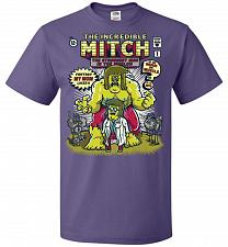Buy Incredible Mitch Unisex T-Shirt Pop Culture Graphic Tee (S/Purple) Humor Funny Nerdy