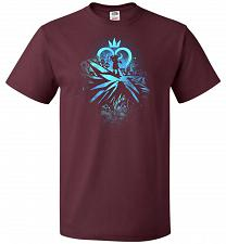 Buy Face of The Key Blade Unisex T-Shirt Pop Culture Graphic Tee (S/Maroon) Humor Funny N