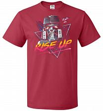 Buy Rise Up Unisex T-Shirt Pop Culture Graphic Tee (2XL/True Red) Humor Funny Nerdy Geeky
