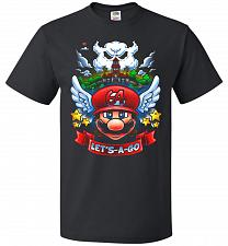 Buy Retro Mario 64 Tribute Adult Unisex T-Shirt Pop Culture Graphic Tee (L/Black) Humor F