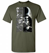 Buy Vader Unisex T-Shirt Pop Culture Graphic Tee (L/Military Green) Humor Funny Nerdy Gee