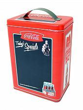 Buy :10729U - Coke Coca Cola Tall Tin Box w/Chalkboard