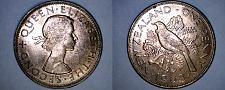 Buy 1963 New Zealand 1 Penny World Coin - Tui Bird
