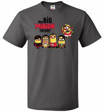 Buy The Big Minion Theory Unisex T-Shirt Pop Culture Graphic Tee (L/Charcoal Grey) Humor